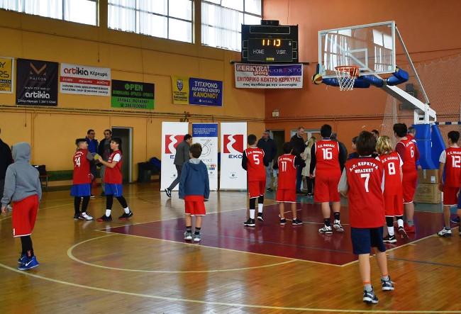 Στιγμιότυπο από αγώνα επίδειξης μικρών αθλητών των Ακαδημιών που προπονούνται στο Εθνικό Αθλητικό Κέντρο Κέρκυρας